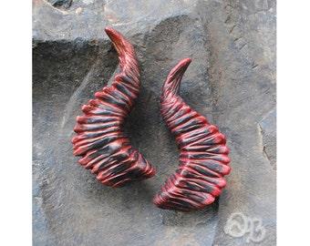 Scorched Crag Satyr Horns - Hair Clips Fantasy Woodland Fashion