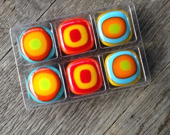 Magnets, Fused Glass Magnet, Fun Gift, Unique Gift, Small Gift, Gift For Her, Gifts Under 10, Stocking Stuffer, Gifts For Coworkers