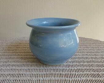 Sky Blue Pottery Pot or Vase - Handmade