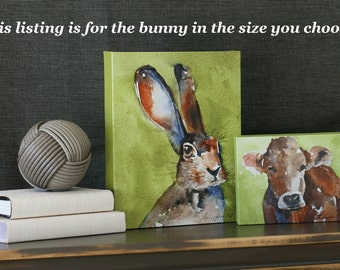 easter bunny painting decoration for easter decor easter bunny wall art for easter wall hanging CANVAS REPRODUCTION large painting on canvas