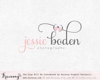 Bow Logo, Boutique Logo, Photography Logo, Custom Logo, Premade Logo, Premade Watermark, Custom Logo Design