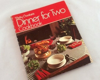Vintage Betty Crocker Cookbook, Dinner For Two Cookbook