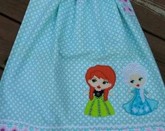 Frozen Inspired Elsa/Anna pillow case dress