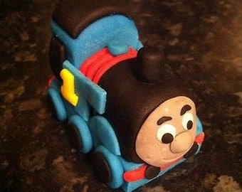 Edible Thomas the tank engine  cake topper decoration