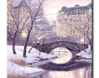 New York City, Central Park Art Tile Print on Ceramic with Hook or with Feet Indoor Use -Nature, Flowers, Birds