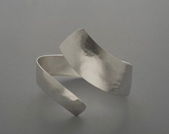 Sterling Silver Wrap Cuff, silver, bracelet, forged, handmade, sterling