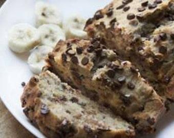 Gluten Free Vegan Chocolate Chip Banana Bread