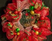 Be Merry - Deco Mesh Wreath - Christmas wreath