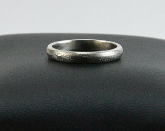 Sterling Silver, Oxidized, Textured Band, Size 6, Silver Stack Ring, Stackable Sterling Band, Interchangable Jewelry, Hand Made Ring