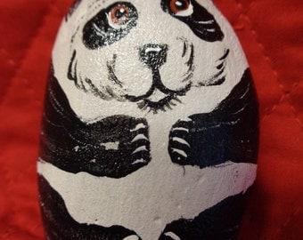 Panda Bear Baby Rock Art, Garden Art or Panda Pocket Pet