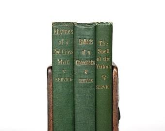 Robert Service Poems - Vintage Books - Decorative Books - Poetry Books - Antique Book Set - Book Bundle - Library Decor - Yukon - Cool Gift