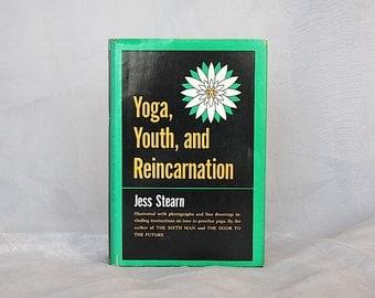 Vintage Yoga Book - Yoga Gift - Yoga Decor - Yoga Instruction - Yoga Practice - Yoga History - Yoga Youth Reincarnation - Jess Stearn