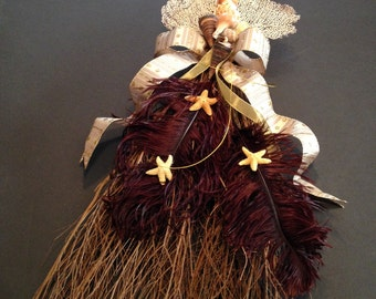 Rustic Forever Summer Beach Broom