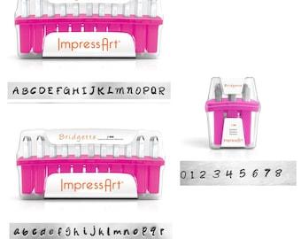 ImpresArt Bridgette Uppercase or Lowercase or Numbers 3mm Standard    Metal Stamping Font   Hand Stamping Letter Set   ImpressArt Bridgette