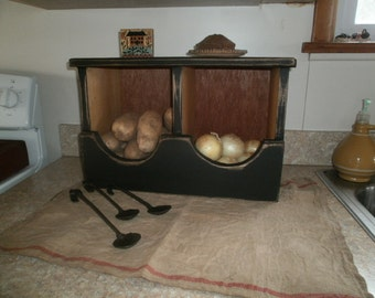 Potato and Onion Bin for Counter Tops