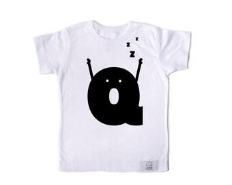 Letter Q Kids T-shirt White