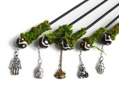 Zen Garden Stylus // Mini Zen Garden Tools // Zen Rake // Buddha Charm // Meditation Charm // Hamsa // Evil Eye // Fairy Garden // Sand Art