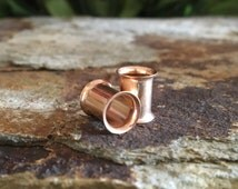 Rose Gold Stainless Steel Tunnels Plug, gauges 6g, 4g, 2g, 0g, 00g, 1/2, 9/16, 5/8, 3/4, 7/8, 1 inch