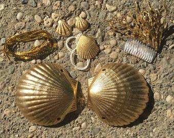 """Mermaid Shell Bra """"Midas' Touch"""""""