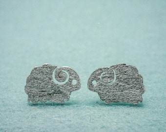 sheep earring studs 925sterling silver