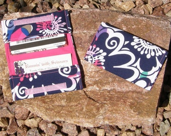 Blue/Pink Business Cardholder/Mini-Wallet