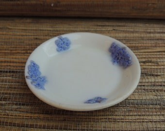 Adderleys Chelsea Blue Grape Bone China Butter Pat English