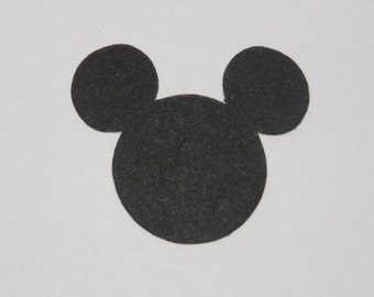 Mickey Mouse ( Head)  Die Cuts Paper Punches Scrapbooking  1 inch , 1.25 , 1.5 sizes - 25 Pieces
