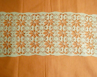 Creamy White Lacy Doily From The 1940's - Cecelia-Marie - 139