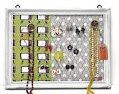 20%- Porta gioielli ed Organizer, Porta orecchini fatto a mano, Shabby chic, Porta orecchini a muro, Misura MEDIA