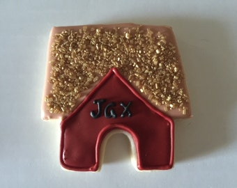Customized Dog House Cookie Sugar Cookie