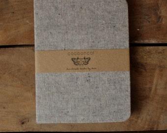 Grey Linen Cover, Drawing Vellum, Handmade Journal/Sketchbook/Notebook