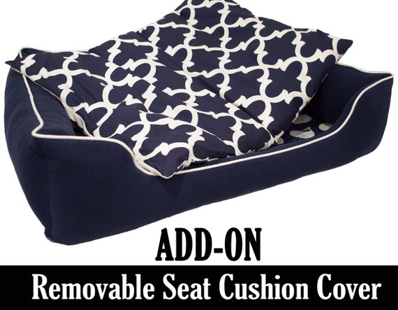add on removable seat cushion cover for our by adorecustompetbeds. Black Bedroom Furniture Sets. Home Design Ideas
