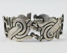 Vintage Pedro Castillo Taxco Mexico 925 Sterling Silver Bracelet