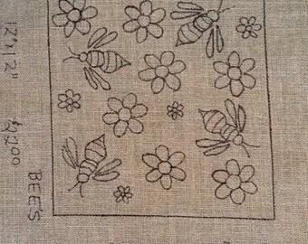 Bee Rug Hooking Pattern