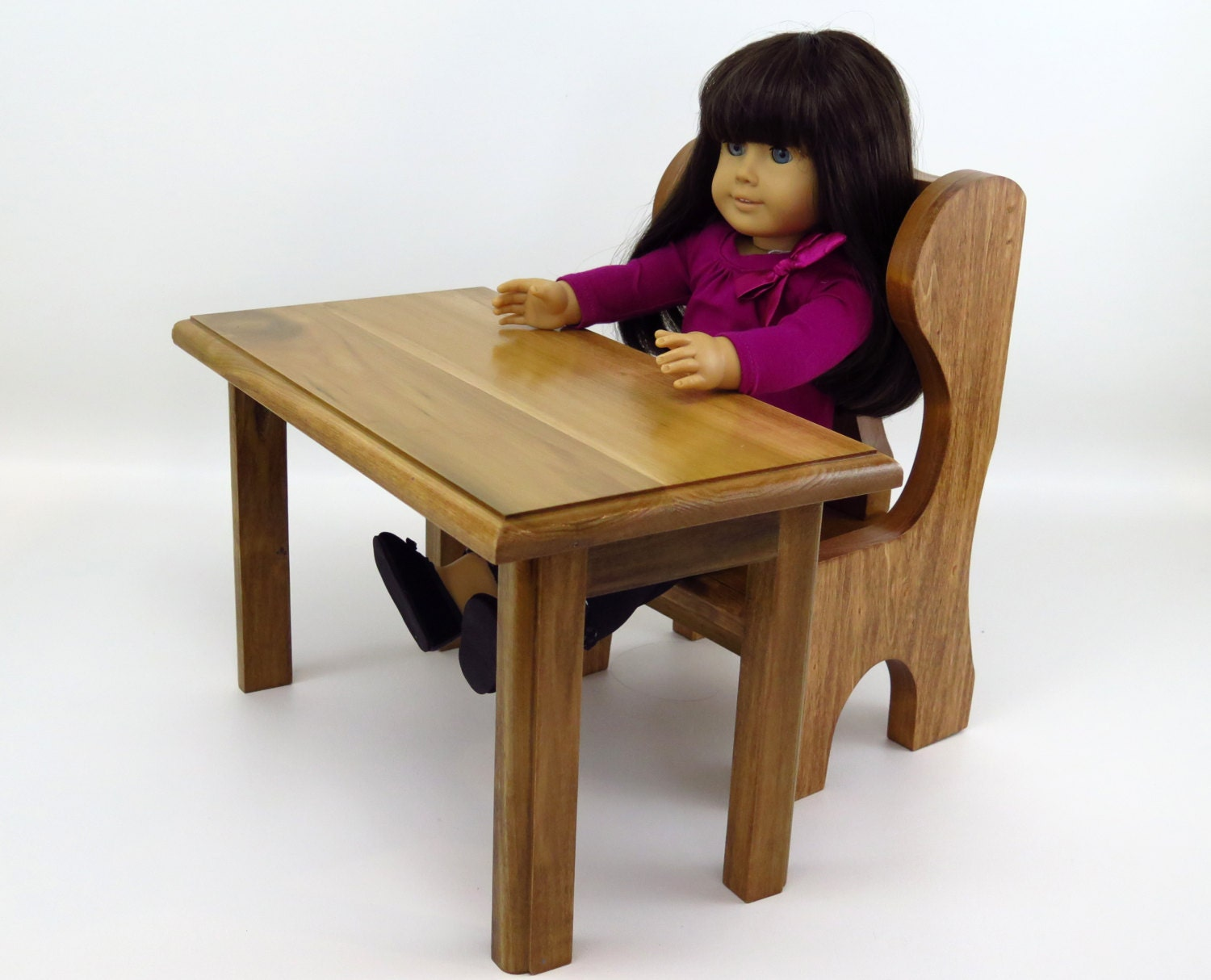 american girl doll school desk or table and chair. Black Bedroom Furniture Sets. Home Design Ideas