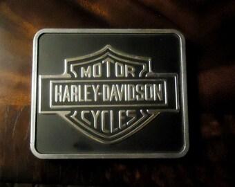 Harley Davidson Shovelhead Era Mount Plate Saddlebag Rail Emblem