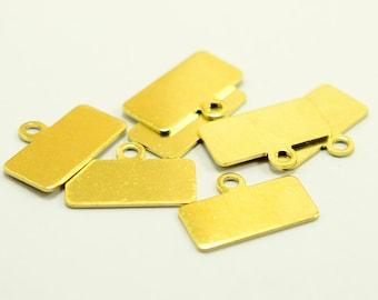 12 pcs. Raw Brass Rectangle 0.8x10x20 mm Stamping Blanks Findings 20 ga