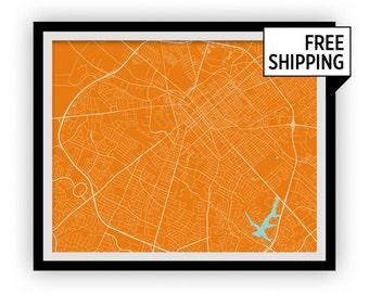 Lexington Map Print - Choose your color