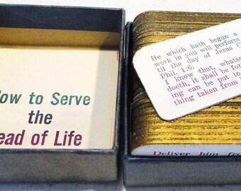 Bread of Life Scripture's Daily Prayers Vintage 125 Slices Spiritual Religious