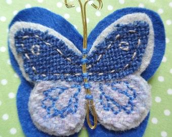 Fabric Butterfly Brooch