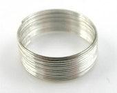 On Sale 100 Loops of Steel Ring Memory Wire 2.2cm 22mm