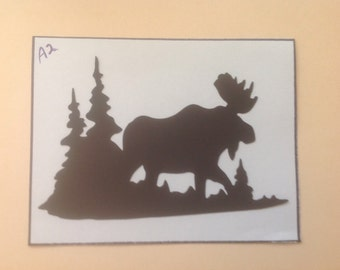 Silhouette Die Cuts/Moose in the Forest - s12