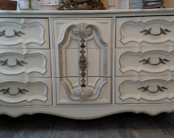 Sold - -  Gorgeous refinished vintage French provincial dresser
