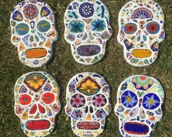Mosaic Sugar Skull Wall Hangings