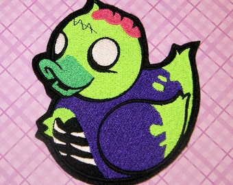 Zombie Duckie Iron On Embroidery Patch MTCoffinz - - Choose Size