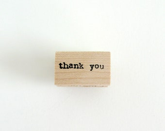 Thank You Stamp | Thank You Typed Wood Mounted Rubber Stamp | Thank You Rubber Stamp | Card Making | Scrapbooking Supplies