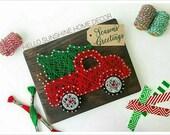 FREE SHIPPING The Original Christmas Truck String Art
