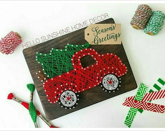 The Original Christmas Truck String Art