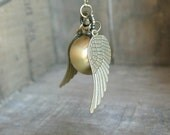 Golden Snitch Watch Necklace, Wings, Harry Potter, Golden Snitch,Unisex,Other metal colors available,Watch really Works,Timepiece,Great Gift