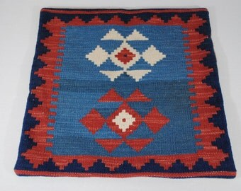 Navajo, Native American, Pillow, Cover, Zipper, Back, Hand, Dyed, Handwoven, Wool